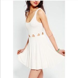 White dress with waist cut outs